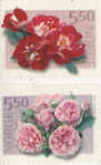 rose stamps from Norway